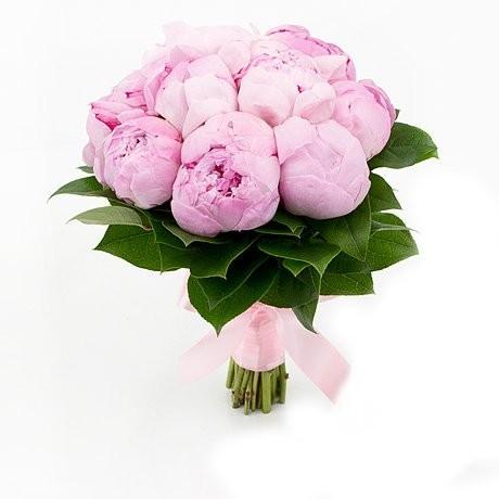 Букет невесты из 9 розовых пионов «Идеальное мгновение»