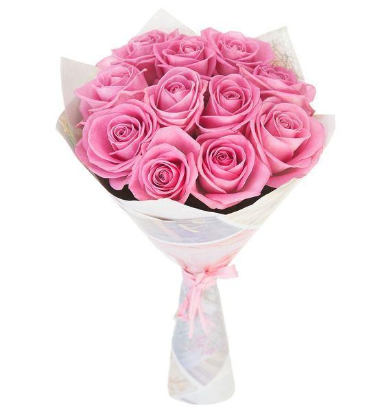 Букет из 11 розовых роз «Розовое чудо»