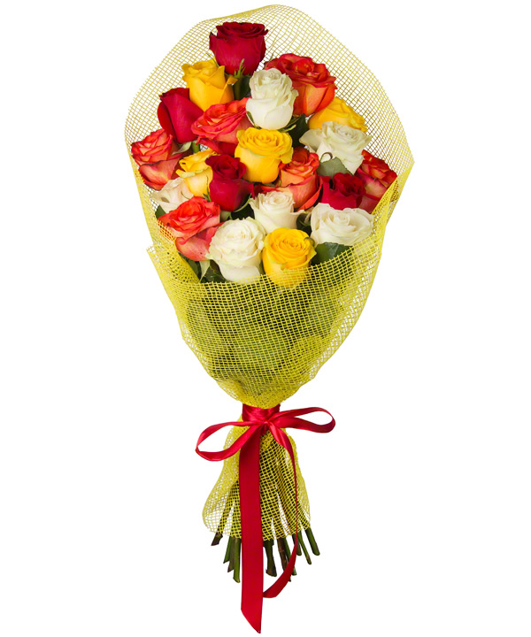 Букет из 21 розы «Искусство романтики»