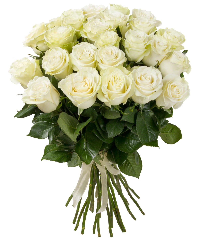 Букет из 25 белых роз «Любимый ангел»