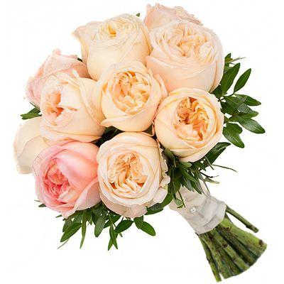 Букет из 15 пионовидных роз «Пионовое парфе»