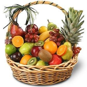 Фруктовая корзина из экзотических фруктов «Незабываемый вкус»