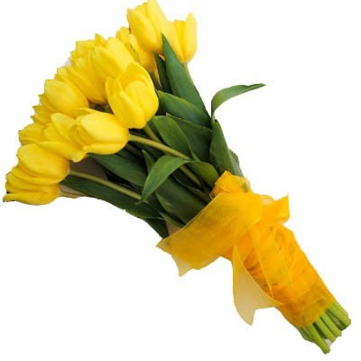 Букет из 31 жёлтого тюльпана «Египтянка»