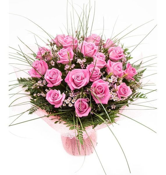 Букет из розовых роз «Мелисса»