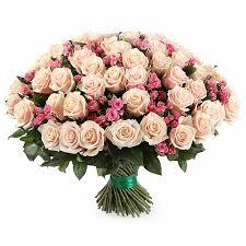 Букет-микс из 101 кенийской и кустовой розы «Фантазия »