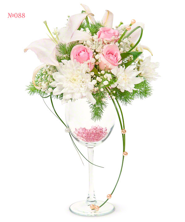 Букет из 9 роз и 5 эустом «Жемчужные бусы»