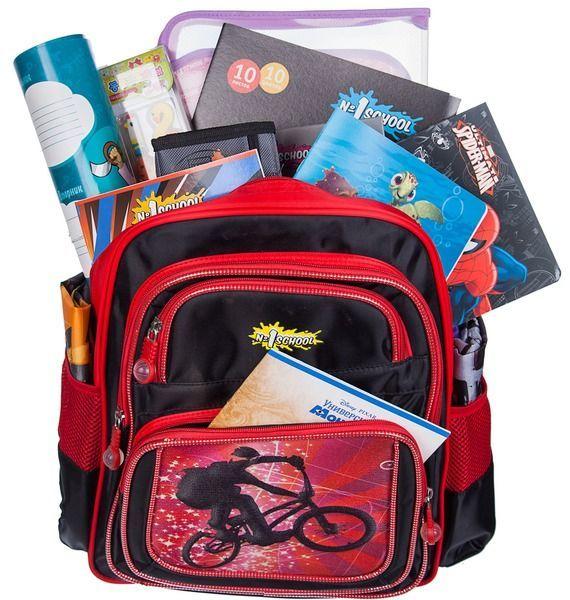 Подарочный рюкзак со школьными принадлежностями «Снова в школу»