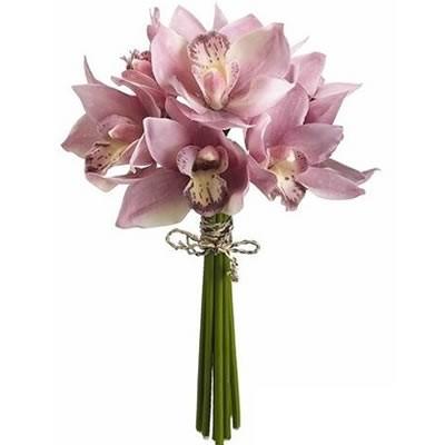 Букет невесты из 9 орхидей «Свадебные оттенки»