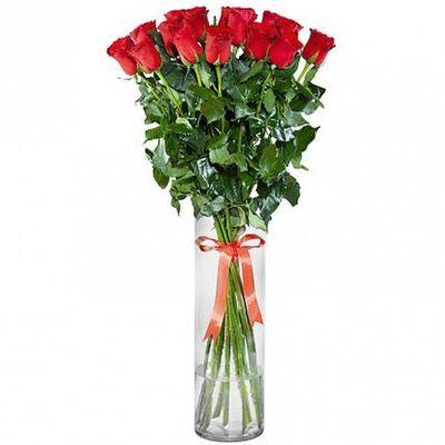 Букет из 15 метровых роз «Эсмеральда»