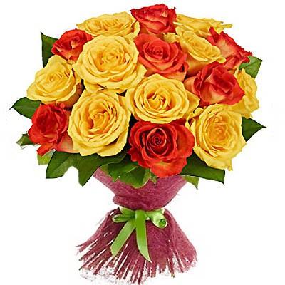 Букет из 21 розы «Локрийская дева»