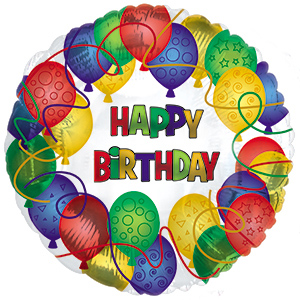 Шар  «Happy Birthday праздничный»