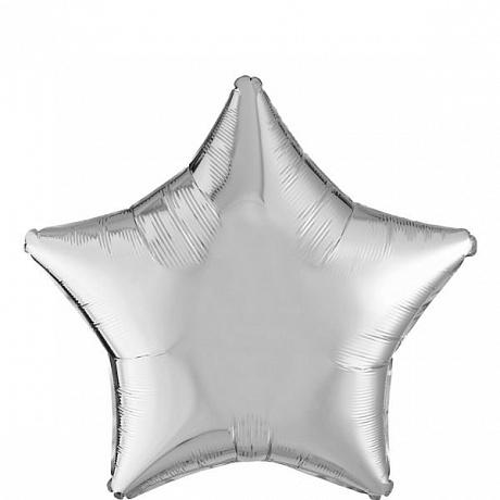 Шар (18/46 см) в форме звезды. «Звезда из серебра»
